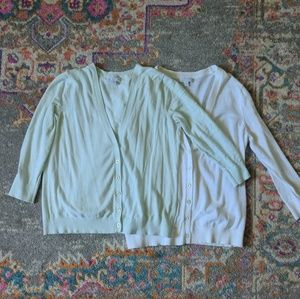 Light Mint and White colored cardigans